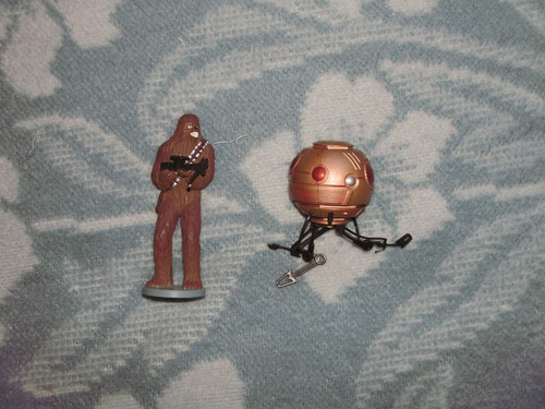 star wars sith attack droid potj + chewbacca ds collections
