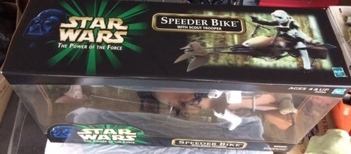 star wars speeder bike with scout trooper potf 12 pulgadas