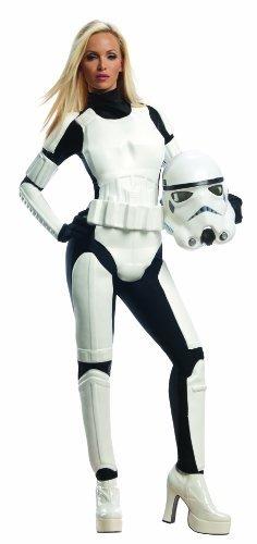 star wars stormtrooper hembra de rubie, blanco/negro,