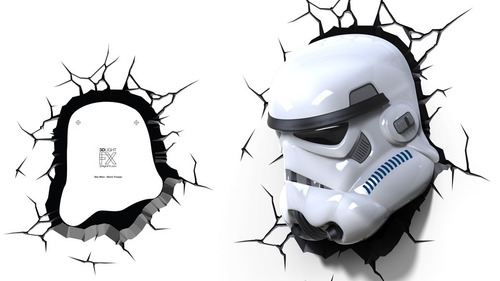 star wars stormtrooper lampara 3d force awakens casco