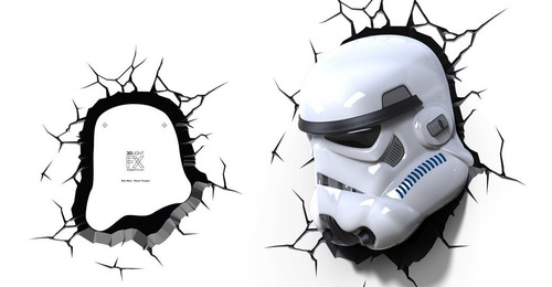 star wars stormtrooper lampara 3d light caso