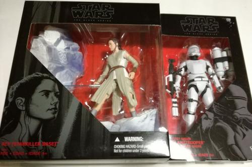 star wars the black series rey y first order flametrooper
