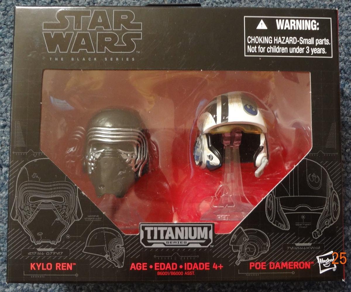 Star Wars The Black Series Titanium Helmets Kylo Ren Y Poe