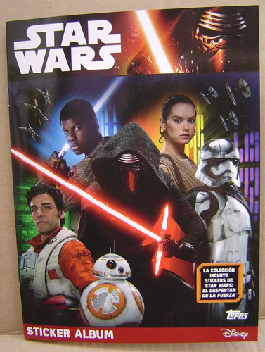 star wars the force awakens album completo figus a pegar