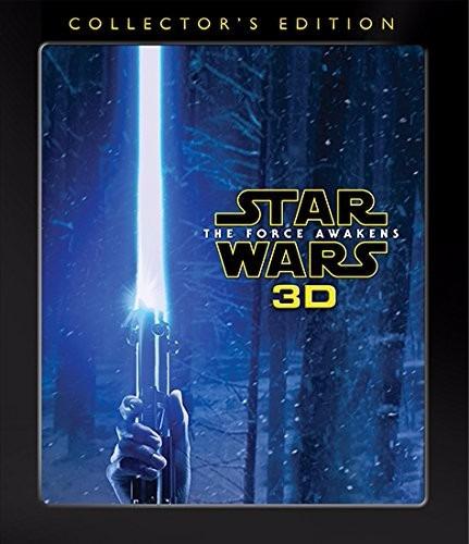 star wars the force awakens blu ray película  3d stock