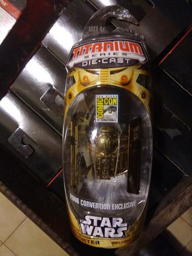 star wars tie advanced x1 titanium dorada comic con 2006