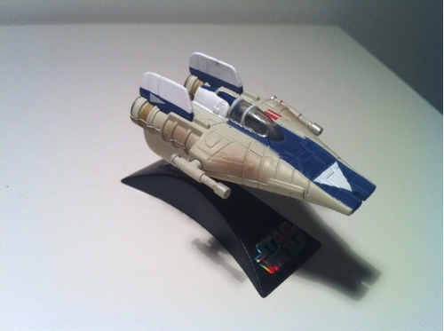 star wars titanium a-wing starfighter loose
