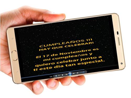star wars vídeo tarjeta invitación digital cumpleaños whapsa