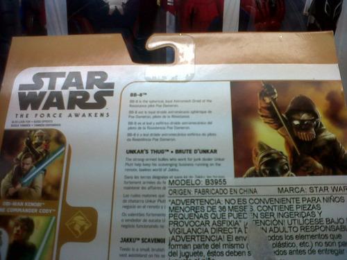 star wars vii - bb 8, unkar's thug & jakku scavenger hasbro