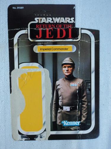 star wars vintage lote 5 cartones de figuras 70s y 80s
