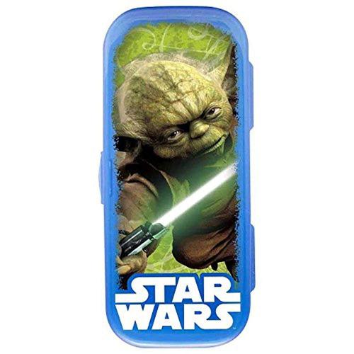 star wars yoda kids flatware go pak, azul