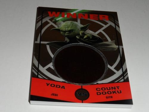 star wars yoda vs count dooku medallon card