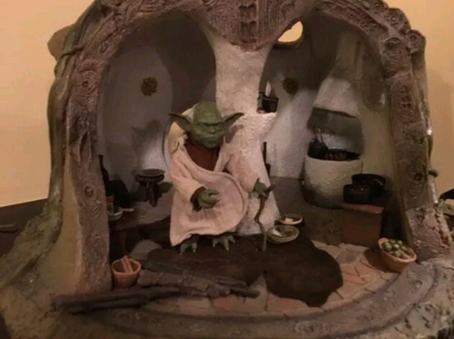 star wars yoda's hut sideshow hot toys