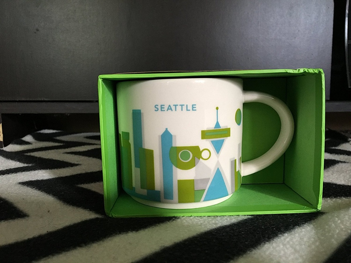 Starbucks 2013 You Are Here Collection Seattle Mug 14 Oz
