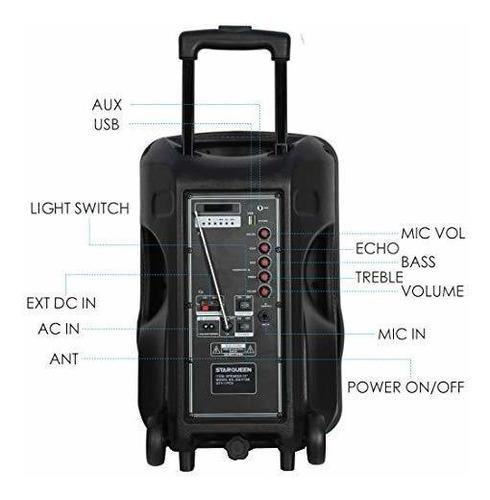 starqueen 12inch sistema de megafonía portátil bluetooth alt