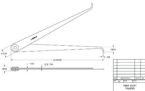 starrett 27-12 dentro conjunta calibre, acero, plana pierna
