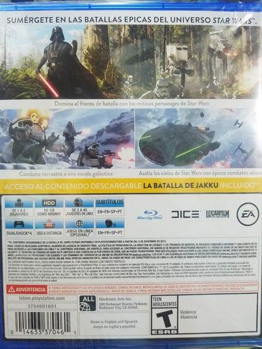 stars wars battlefront ps4 español sellado delivery