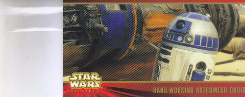 stars wars topps widevision episode 1 astromech droid #40