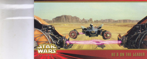 stars wars topps widevision episode 1 he's on leader #48