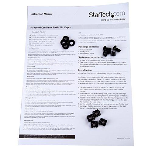 startech.com 1u estante estante - 7 en profundo - pesado -du