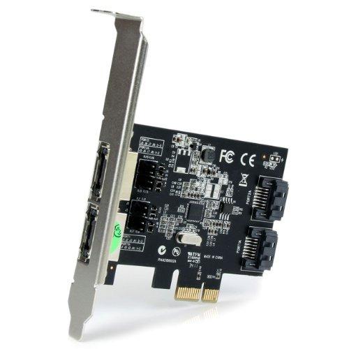 startech.com 2 puerto pci expreso sata 6 gbps esata controla