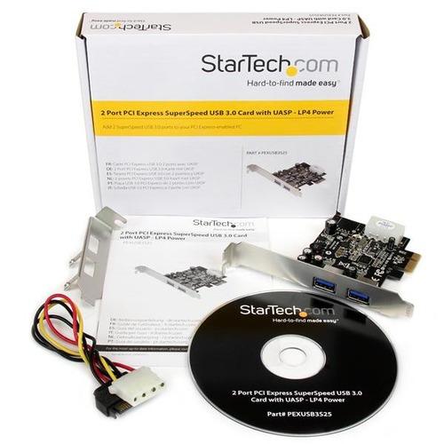 startech.com startech.com 2 puertos pci express (pcie) adapt