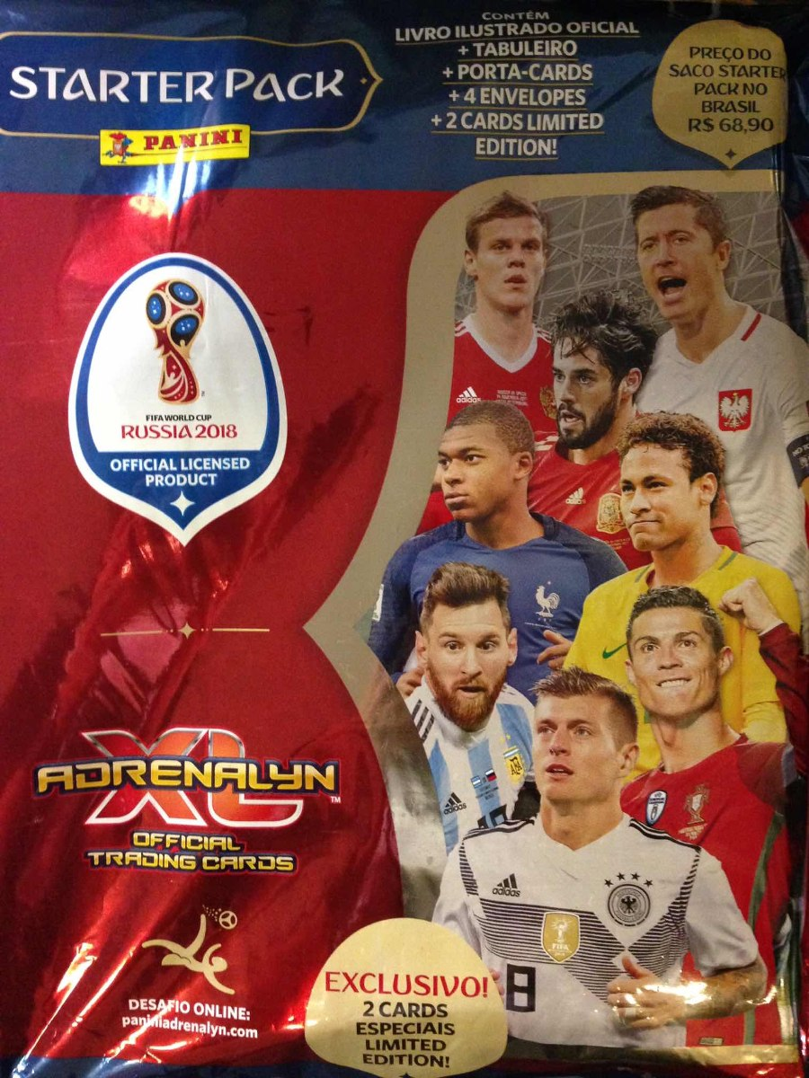 546c7bc92fcd Starter Pack Fifa World Cup Rússia 2018 -adrenalyn Xl - R  79