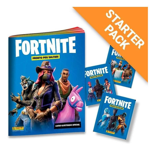 starter pack fortnite - livro ilustrado + 20 envelopes