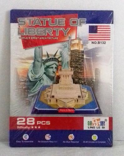 statue of liberty, rompecabezas en 3d