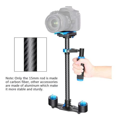 steadycam de fibra carbono estabilizador video dslr go pro
