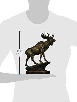 stealstreet ss-ug-py-4756 bronzed paint moose collectible d