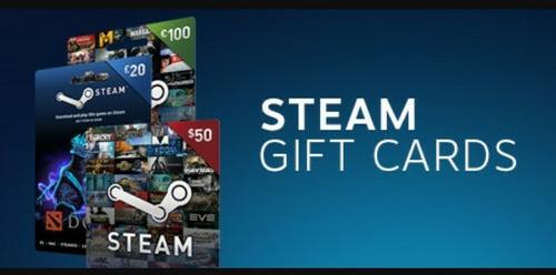 steam gift card $5-$100 para todos los paises