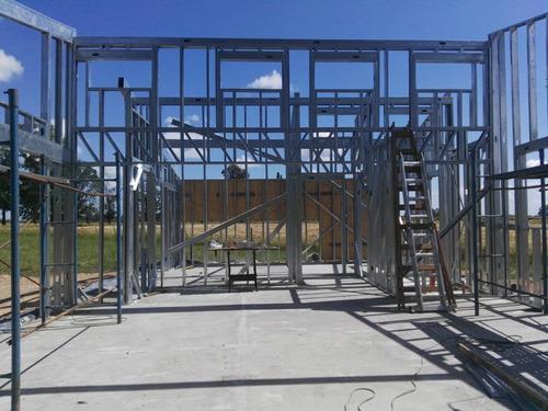 steel y wood framing durlock, construccion mano de obra x m2