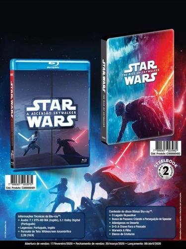steelbook blu-ray duplo star wars: a ascensão skywalker