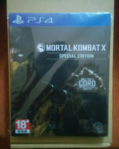 steellbook de mortal kombat x ps4 (sin juego)