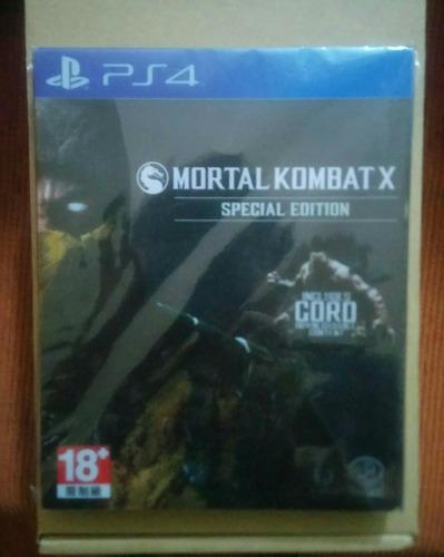 steellbook de mortal kombat x ps4 (sin juego)