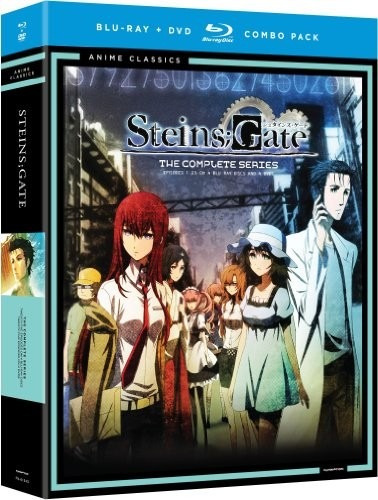 steinsgate anime serie completa de tv en blu-ray + dvd