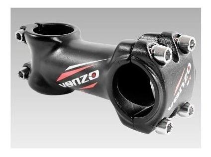 stem bicicleta mtb venzo 019 mx 100mm negro rojo - racer