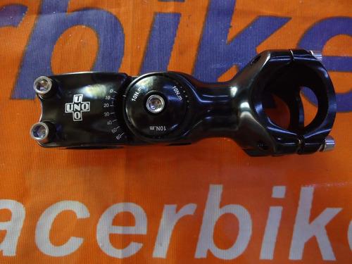 stem regulable kalloy uno 25,4mm - racer bikes