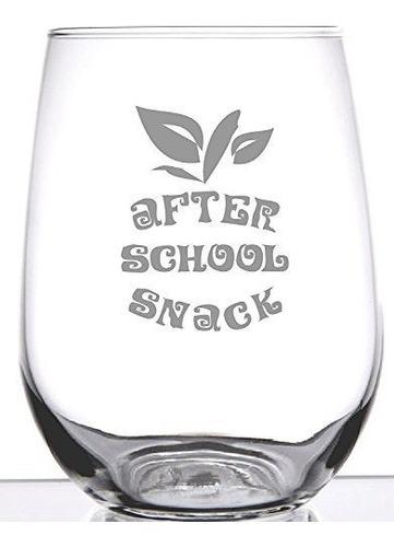 stemless wine glass gift after school snack regalo unico par