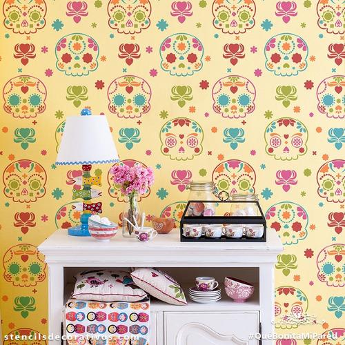 stencil d calaver  plantilla decorativa reusable para pintar