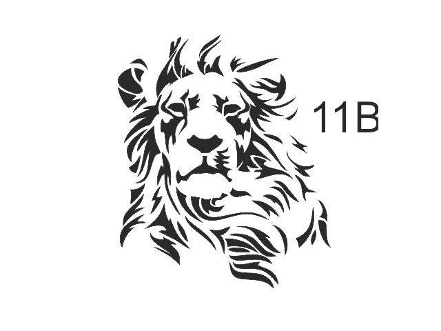 stencil de le n para utilizar con aerografo 135 00 en mercado libre rh articulo mercadolibre com ar stencil leon the professional