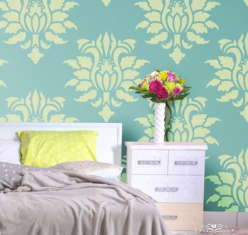 stencil lourdes plantilla decorativa reusable para pintar
