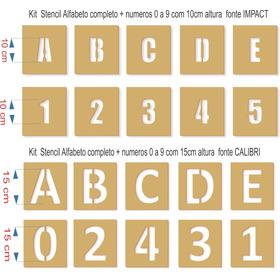 Stencil Piracemb Logo40x40cm + Alfabeto E Números 10 E 15cm