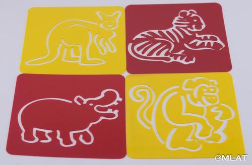 stencil plantilla animales de la selva !!!!