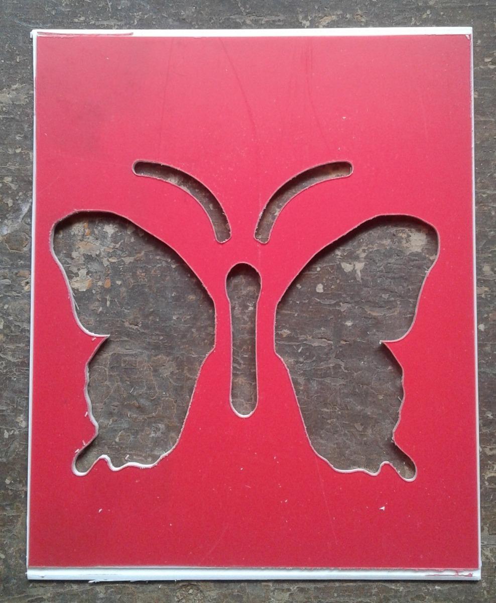 Stencil Plantillas Mariposa Aprox8cms 9500 En Mercado Libre