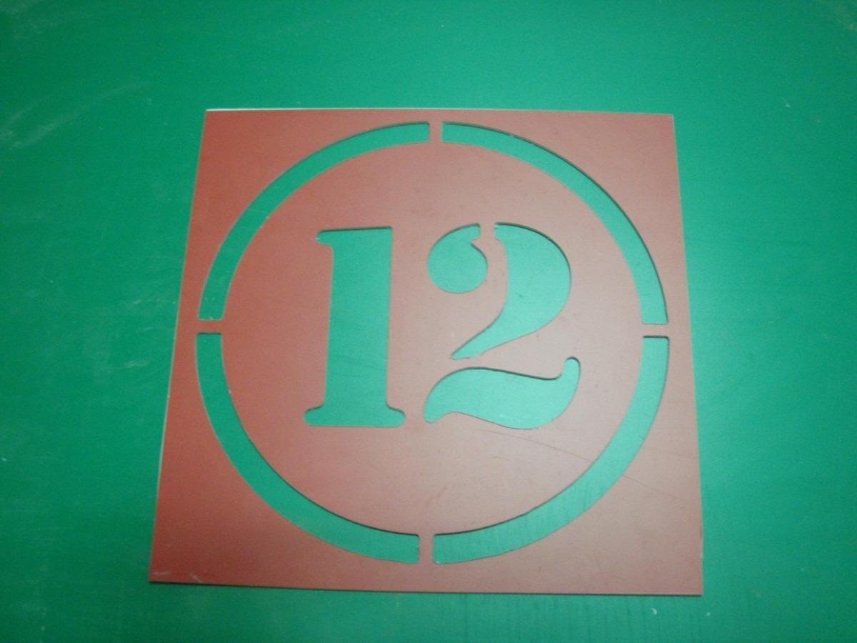 Stencil Plantillas Números Garage Estacionamientos,15 Cms - $ 1.050 ...