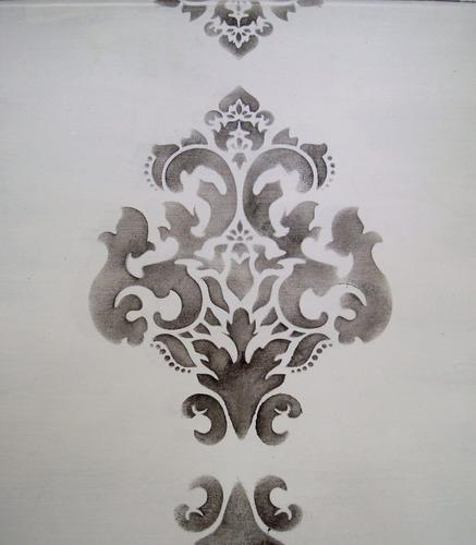 stencils. decorá tus paredes, muebles, accesorios. damask
