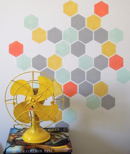 stencils. decorá tus paredes, muebles y accesorios. colmena