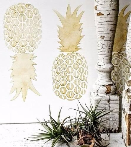 stencils. decorá tus paredes, muebles y accesorios. piña